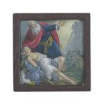 Abraham que ofrece encima de su hijo Isaac, de una Cajas De Joyas De Calidad