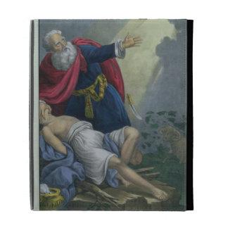 Abraham que ofrece encima de su hijo Isaac, de una