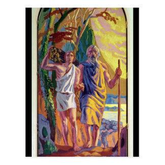 Abraham que va a ofrecer a Isaac su hijo Tarjetas Postales