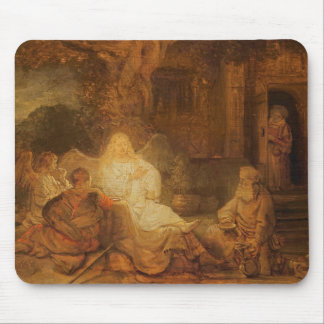 Abraham Receives the Three Angels, 1646 (oil on pa Mouse Pad