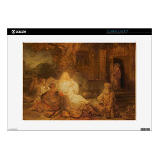 Abraham Receives the Three Angels, 1646 (oil on pa Skin For Laptop
