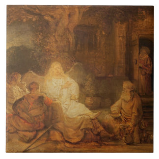 Abraham Receives the Three Angels, 1646 (oil on pa Tile