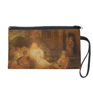Abraham Receives the Three Angels, 1646 (oil on pa Wristlet