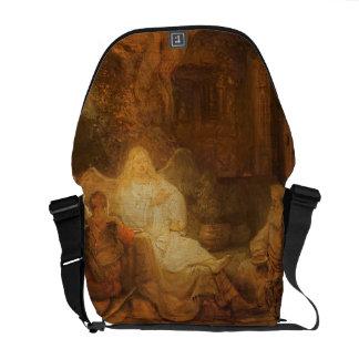 Abraham recibe los tres ángeles, 1646 (aceite en e bolsas de mensajería