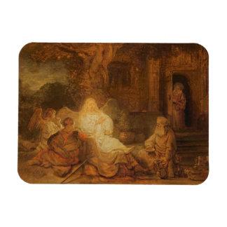 Abraham recibe los tres ángeles, 1646 (aceite en e imán rectangular