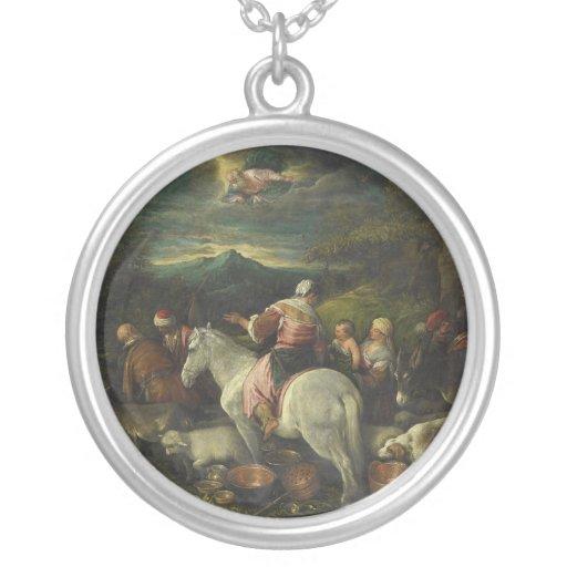 Abraham sale de Haran de Francisco Bassano Colgante