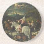 Abraham sale de Haran de Francisco Bassano Posavasos Para Bebidas