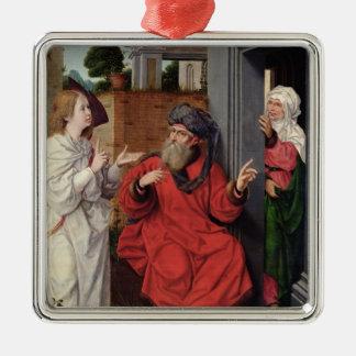 Abraham, Sara and an Angel, c.1520 Metal Ornament