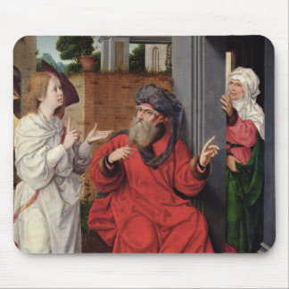 Abraham, Sara and an Angel, c.1520 Mouse Pad