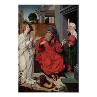 Abraham, Sara and an Angel, c.1520 Poster