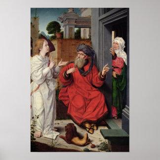 Abraham Sara y un ángel c 1520 Posters