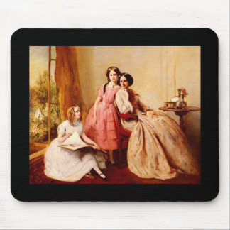 Abraham Solomon A Portrait Of Two Girls With Their Mouse Pad