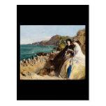 Abraham Solomon por la playa Tarjeta Postal