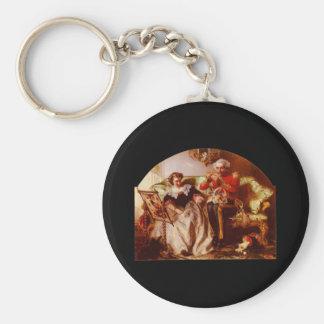 Abraham Solomon The Lion In Love Basic Round Button Keychain