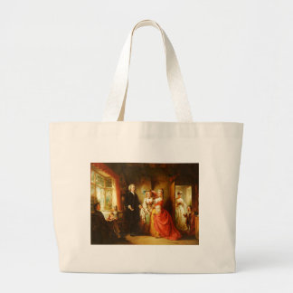 Abraham Solomon The Vicar Of Wakefield Large Tote Bag