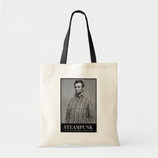 Abraham Steampunk Budget Tote Bag
