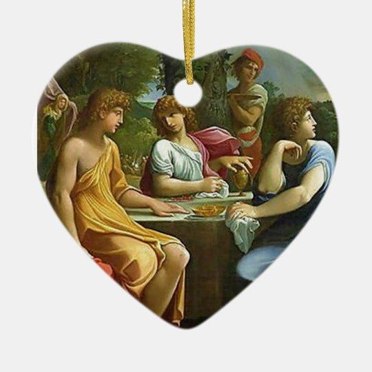 Abraham & The Three Angels Ceramic Ornament