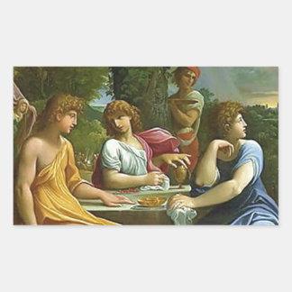 Abraham & The Three Angels Rectangular Stickers