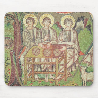 Abraham with the angels (mosaic) mouse pad