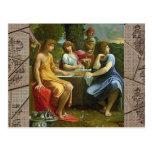 Abraham y los tres ángeles postal
