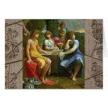 Abraham y los tres ángeles tarjetón