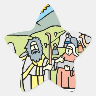 Abraham y Sarah Pegatina En Forma De Estrella