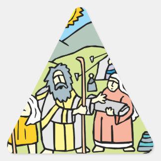 Abraham y Sarah Pegatina Triangular