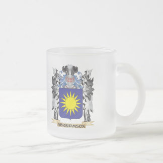 Abrahamson Coat of Arms - Family Crest 10 Oz Frosted Glass Coffee Mug