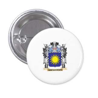Abrahamson Coat of Arms - Family Crest 1 Inch Round Button