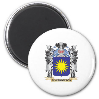 Abrahamson Coat of Arms - Family Crest 2 Inch Round Magnet