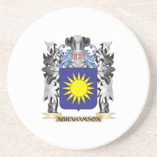 Abrahamson Coat of Arms - Family Crest Beverage Coasters
