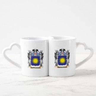 Abrahamson Coat of Arms - Family Crest Couples' Coffee Mug Set