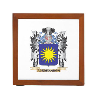 Abrahamson Coat of Arms - Family Crest Desk Organizers