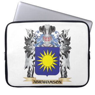 Abrahamson Coat of Arms - Family Crest Laptop Computer Sleeve