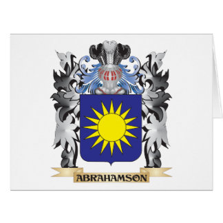 Abrahamson Coat of Arms - Family Crest Large Greeting Card