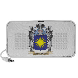 Abrahamson Coat of Arms - Family Crest Notebook Speakers