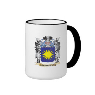 Abrahamson Coat of Arms - Family Crest Ringer Coffee Mug