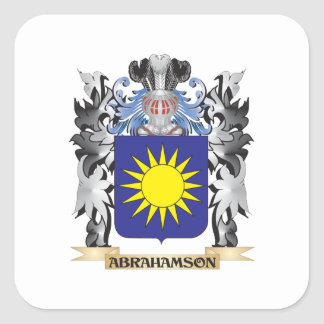 Abrahamson Coat of Arms - Family Crest Square Sticker