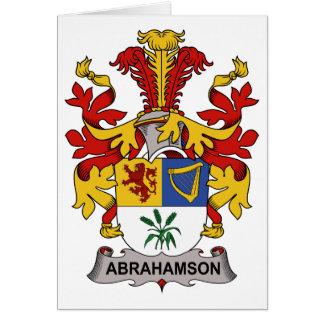 Abrahamson Family Crest Card