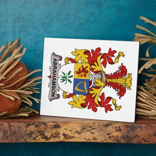 Abrahamson Family Crest Display Plaques