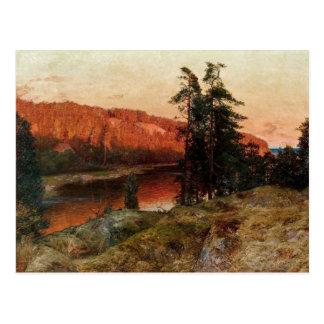 "Abrahamsson's ""Evening Sun"" postcard"