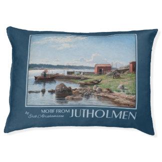 "Abrahamsson's ""Motif from Jutholmen"" art dog beds"