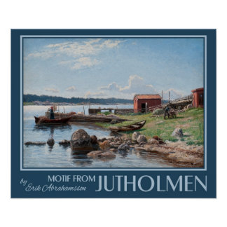 "Abrahamsson's ""Motif from Jutholmen"" art poster"