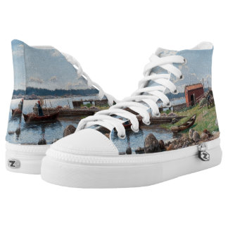 """Abrahamsson's """"Motif from Jutholmen"""" art shoes Printed Shoes"""