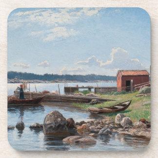 "Abrahamsson's ""Motif from Jutholmen"" coasters"