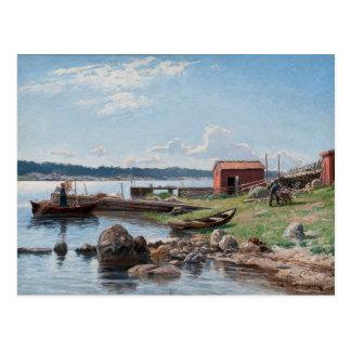 "Abrahamsson's ""Motif from Jutholmen"" postcard"