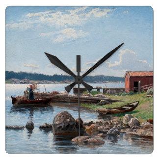 "Abrahamsson's ""Motif from Jutholmen"" wall clock"