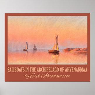 Abrahamsson's Sailboats art poster