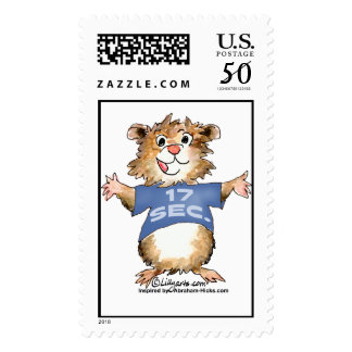 Abrahamster 17 Seconds Custom Postage Stamp