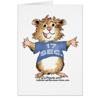 Abrahamster 17 Seconds Greeting Card / Notecard